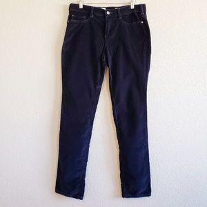 Anthro | Pilcro Serif Navy Blue Velvet Leggings